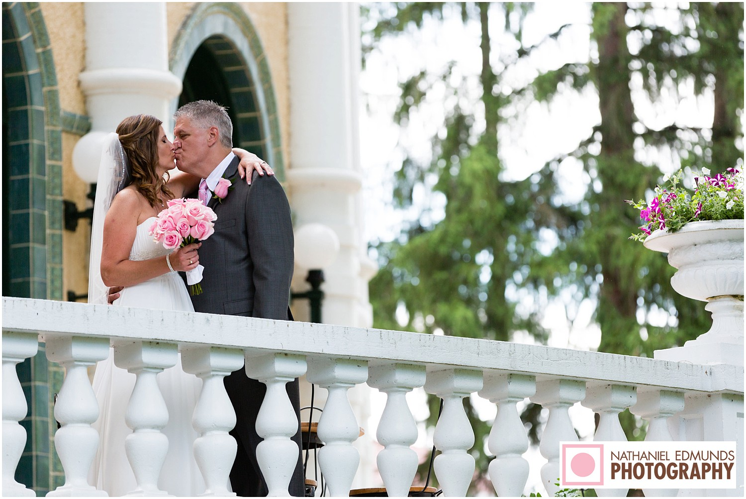 Bride and Groom at West Baden